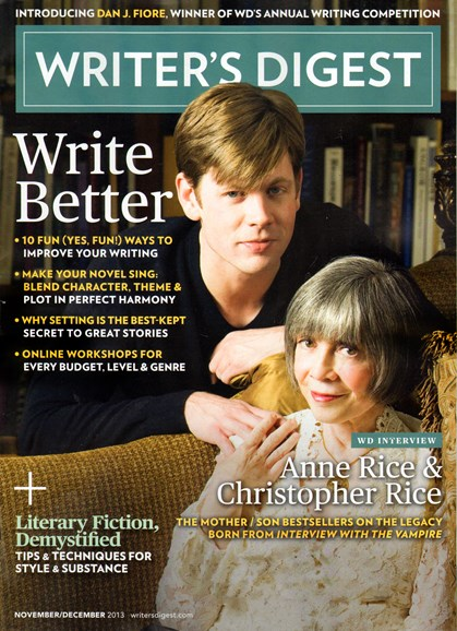 Writer's Digest Cover - 11/1/2013