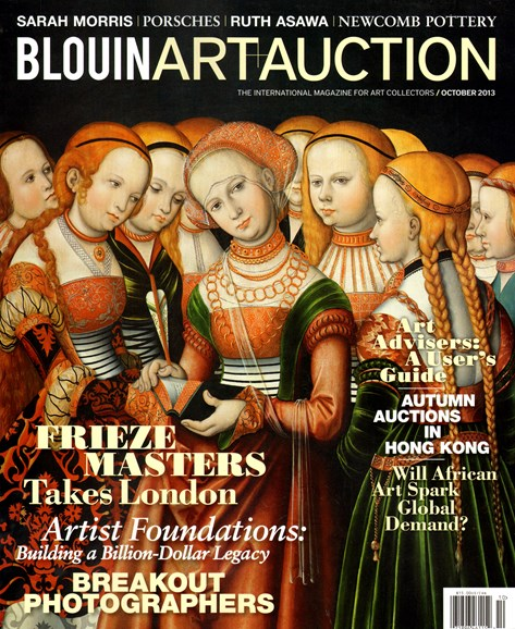 Blouin Art & Auction Cover - 10/1/2013