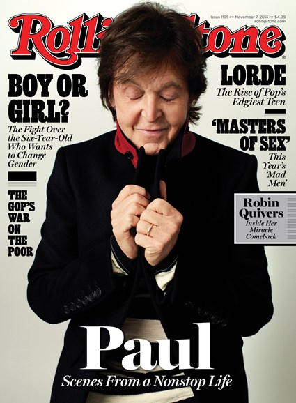 Rolling Stone Cover - 11/7/2013