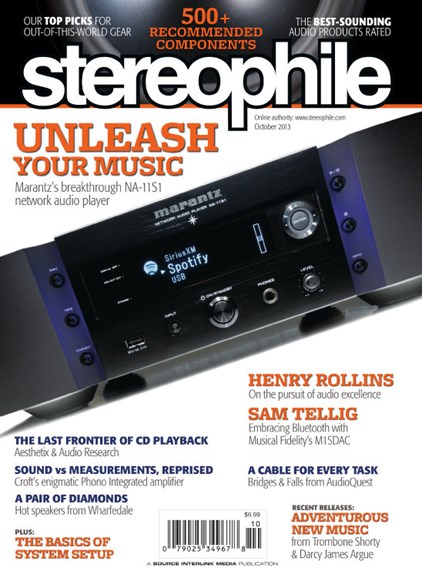 Stereophile Cover - 10/1/2013
