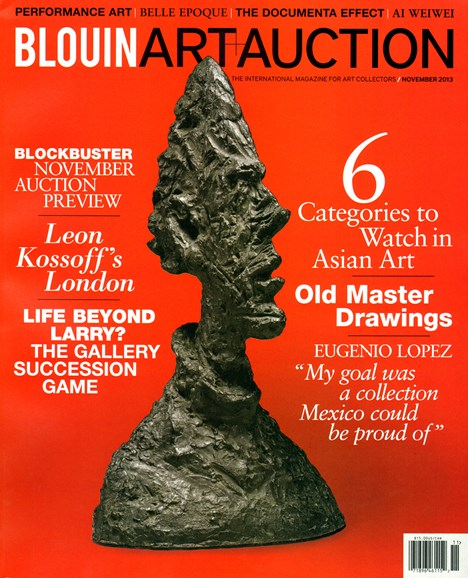 Blouin Art & Auction Cover - 11/1/2013