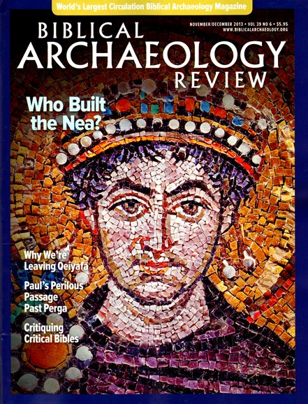Biblical Archaeology Review Cover - 11/1/2013