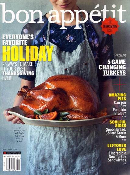 Bon Appétit Cover - 11/1/2013