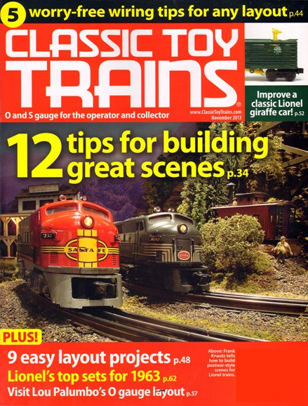 Classic Toy Trains Cover - 11/1/2013