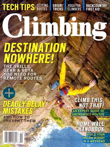 Climbing Magazine Cover - 11/1/2013