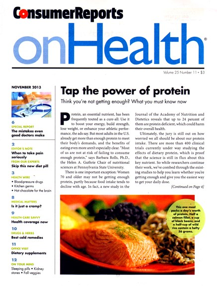Consumer Reports On Health Cover - 11/1/2013
