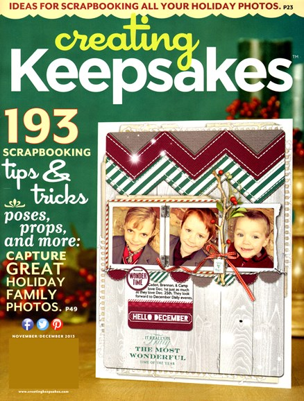 Creating Keepsakes Cover - 11/1/2013