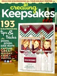 Creating Keepsakes | 11/1/2013 Cover