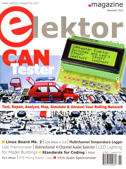 Elektor - North American Edition Cover - 11/1/2013