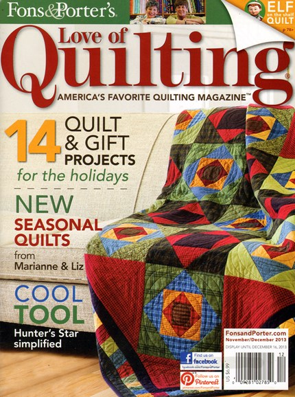 Fons & Porter's Love of Quilting Cover - 11/1/2013