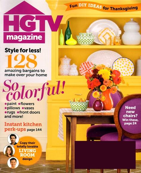 HGTV Cover - 11/1/2013