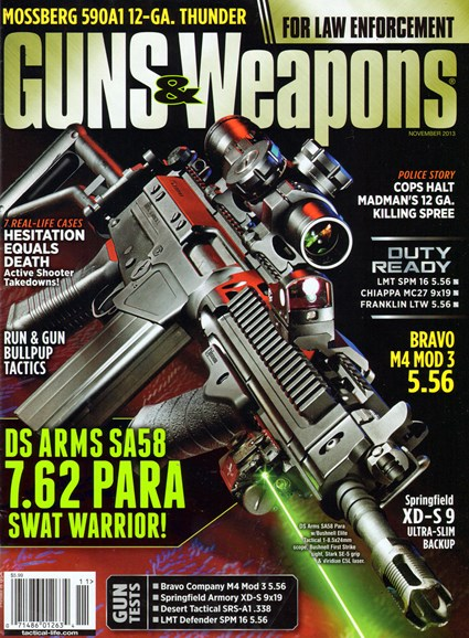 Guns & Weapons For Law Enforcement Cover - 11/1/2013