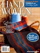 Handwoven Magazine 11/1/2013