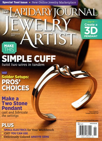 Lapidary Journal Jewelry Artist Cover - 11/1/2013