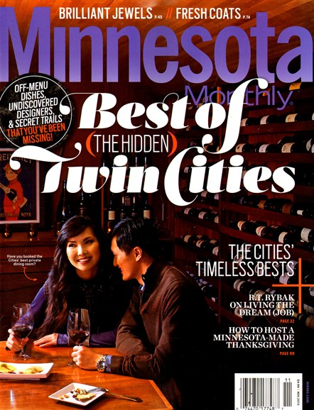 Minnesota Monthly Cover - 11/1/2013