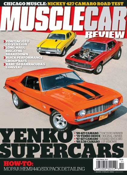 Muscle Car Review Cover - 11/1/2013