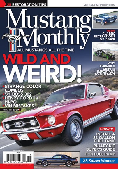 Mustang Monthly Cover - 11/1/2013