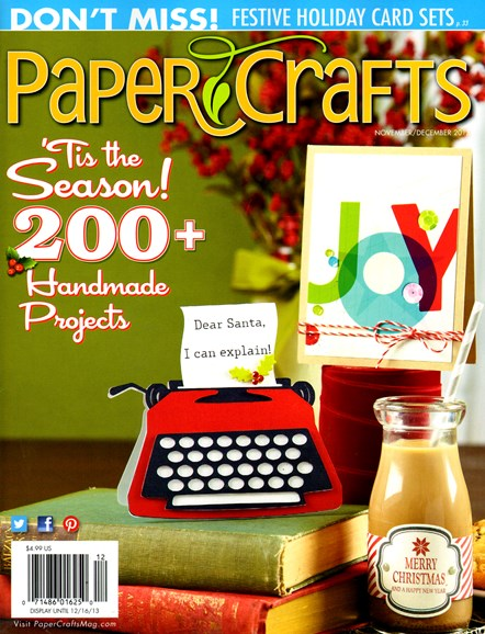 Paper Crafts Cover - 11/1/2013