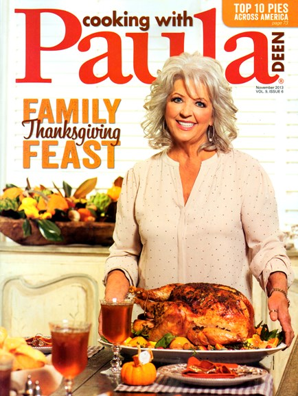 Cooking With Paula Deen Cover - 11/1/2013