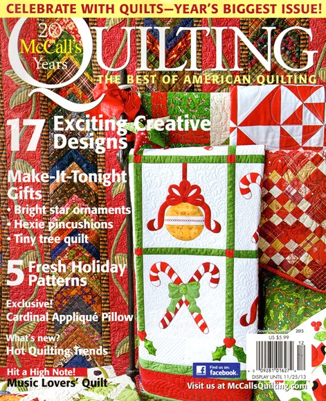 McCall's Quilting Cover - 11/1/2013