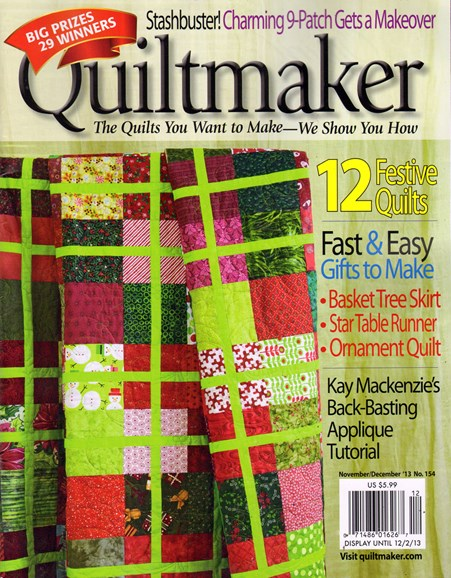 Quiltmaker Cover - 11/1/2013