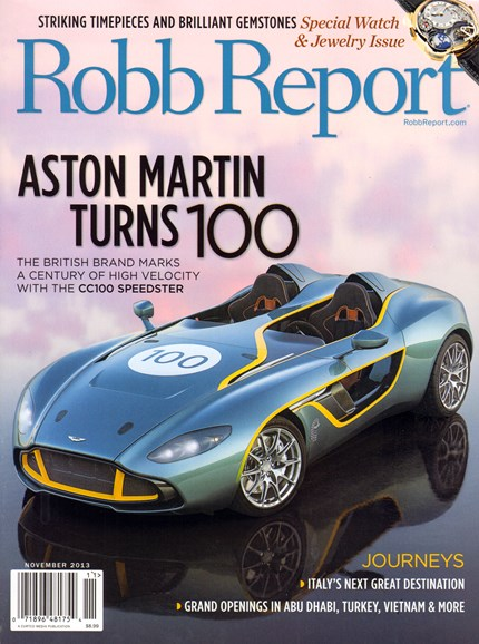 Robb Report Cover - 11/1/2013