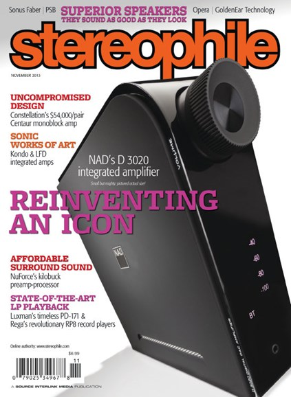 Stereophile Cover - 11/1/2013