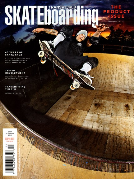Transworld SKATEboarding Cover - 11/1/2013