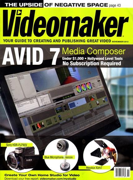 Videomaker Cover - 11/1/2013