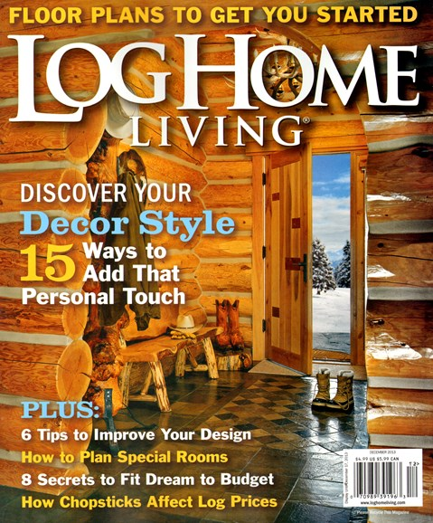 Log and Timber Home Living Cover - 12/1/2013