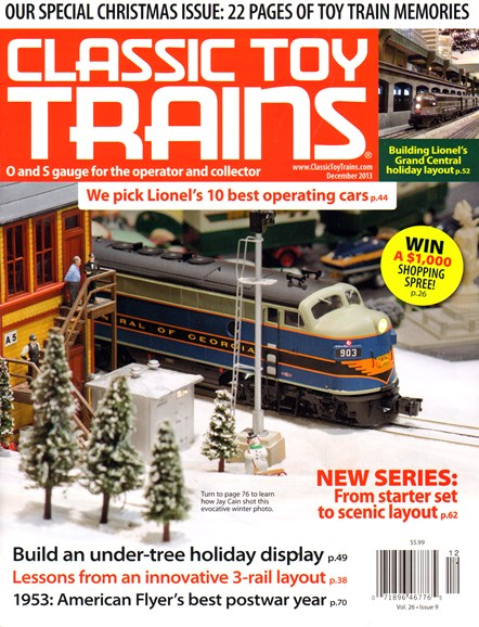 Classic Toy Trains Cover - 12/1/2013
