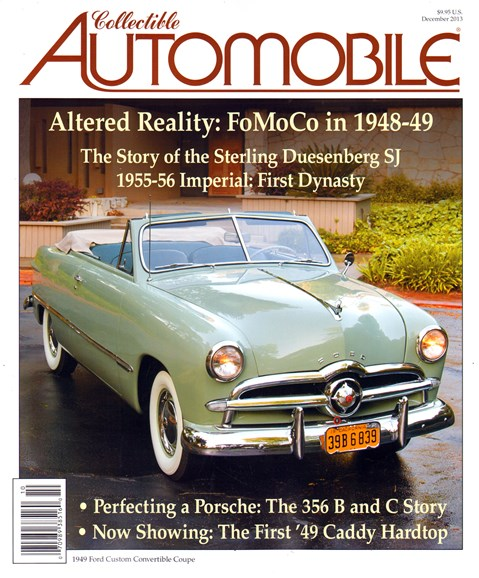 Collectible Automobile Cover - 12/1/2013