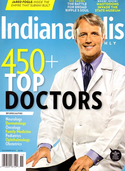 Indianapolis Monthly Cover - 11/1/2013