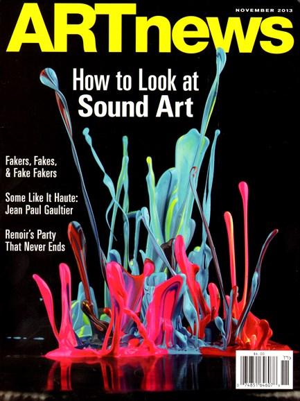 ARTnews Cover - 11/1/2013
