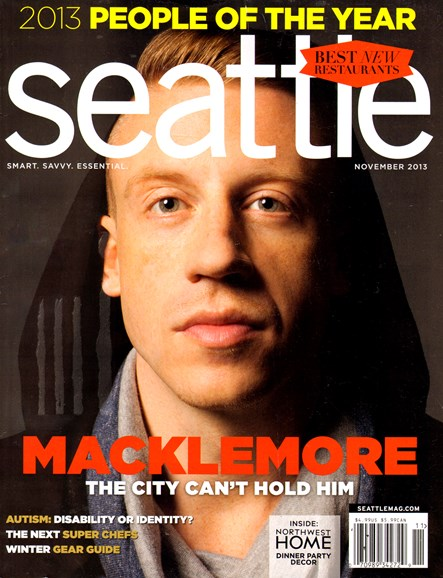 Seattle Magazine Cover - 11/1/2013