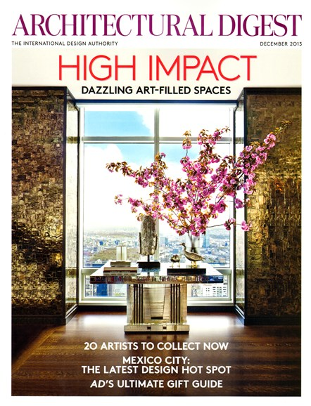 Architectural Digest Cover - 12/1/2013
