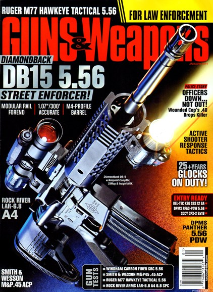 Guns & Weapons For Law Enforcement Cover - 1/1/2014