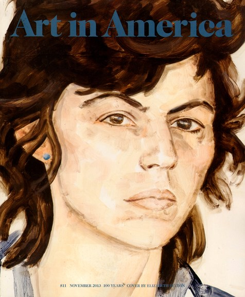 Art In America Cover - 11/1/2013