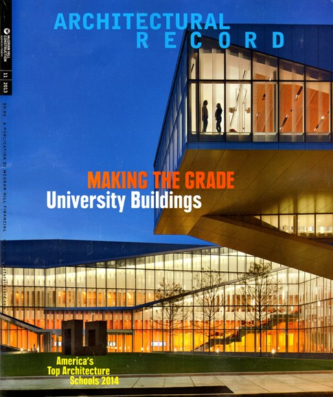 Architectural Record Cover - 11/1/2013