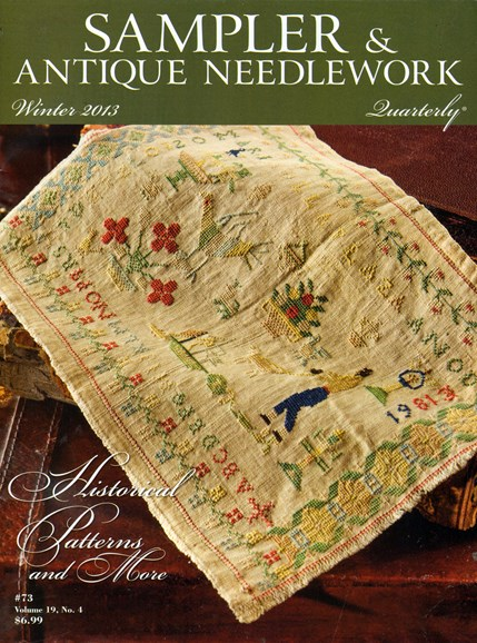 Sampler & Antique Needlework Qtry Magazine Cover - 12/1/2013