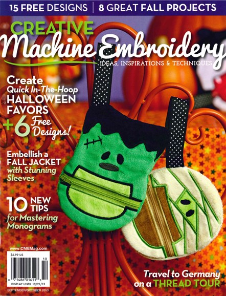 Creative Machine Embroidery Cover - 9/1/2013