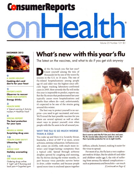 Consumer Reports On Health Cover - 12/1/2013