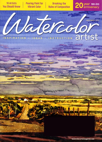 Watercolor Artist Cover - 12/1/2013