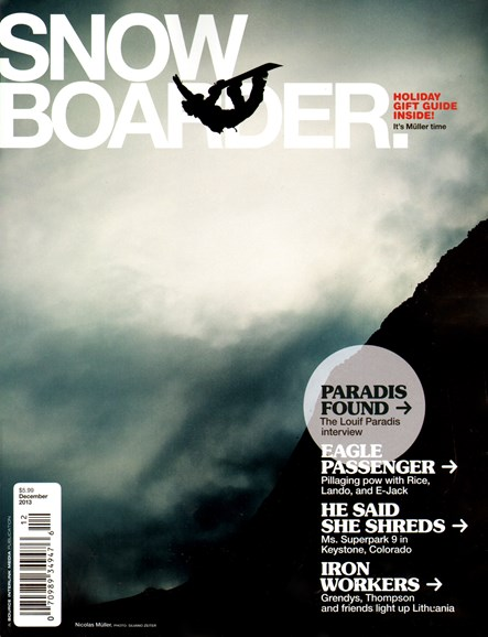 Snowboarder Cover - 12/1/2013