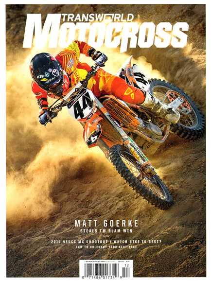 Transworld Motocross Cover - 12/1/2013