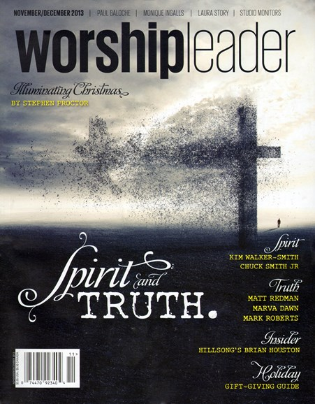 Worship Leader Magazine Cover - 11/1/2013