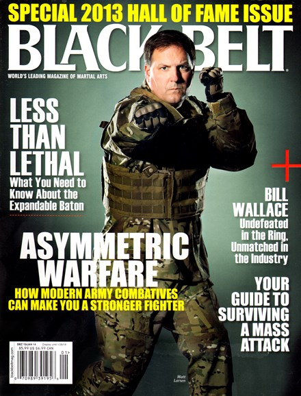 Black Belt Magazine Cover - 12/1/2013