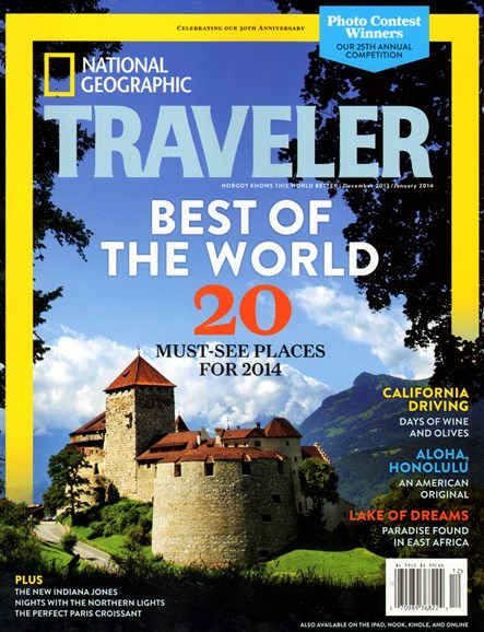 National Geographic Traveler Cover - 12/1/2013