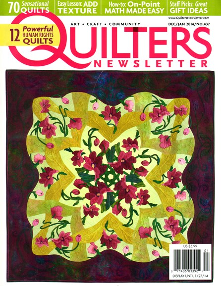 Quilter's Newsletter Cover - 12/1/2013