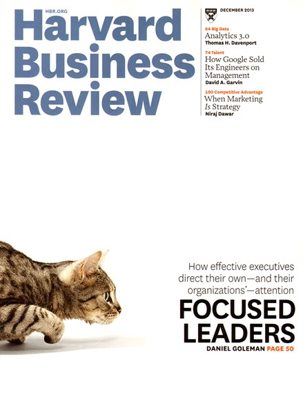 Harvard Business Review Cover - 12/1/2013